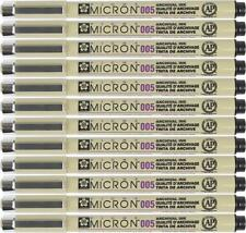 Sakura Pigma Micron Pen - 005 (0.20mm) Waterproof Archival BLACK - 12PC