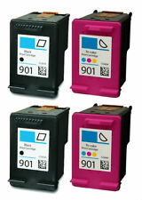 4 PACK For HP #901 Black/Color Ink For HP Officejet 4500 G510 Printer Series