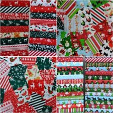 CHRISTMAS FABRIC SCRAPS BUNDLE OFF CUTS REMNANTS 20 PIECES FREEPOST NEXT DAY