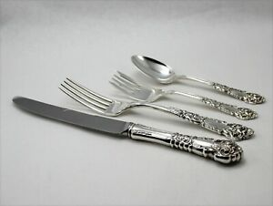 Reed and Barton French Renaissance Sterling Silver 4 Piece Dinner Place Setting
