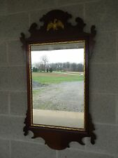 """Vintage Mahogany Federal Style Eagle Accented Mirror 21.5""""W x 39""""H"""