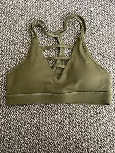 Zyia Olive Grid Bra (size Small)