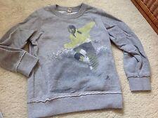 ESPRIT Sweatshirt Gr. 104/110 Pulli Grau Snowboard 🏂