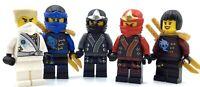 LEGO LOT OF 5 NINJAGO MINIFIGURES KAI JAY ZANE AYA COLE FIGS + SWORDS