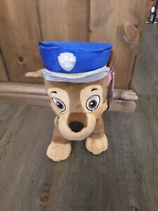 """BRAND NEW OFFICIAL 12"""" PAW PATROL CHASE PLUSH SOFT Kids TOY NICKELODEON"""