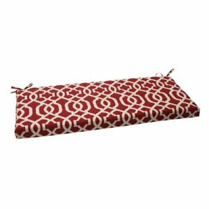 Pillow Perfect Indoor/Outdoor New Geo Bench Cushion 1 Count Pack of 1 Red