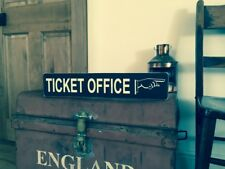 Ticket Office Sign Vintage Steam Old Style Railway Platform Trains GWR Train