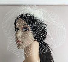 b2b9014f1af1 Avorio Fascinator Con Velo francese clip capelli Velo da sposa la vedova  funural Cappello RACE