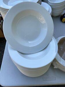 """Steelite 9"""" Pasta Bowls x5 - White"""