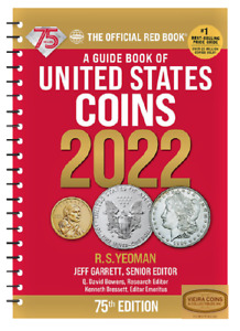 2022 RED BOOK  PRICE GUIDE U.S COINS,SPIRAL