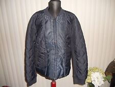 NWT J.CREW GEOMETRIC QUILTED BOMBER JACKET NAVY SIZE XLARGE