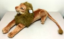 """32"""" Stuffed Animal Giant live looking LION Just out of the Jungle  """"NEW"""""""
