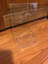 """New Clear Acrylic 7x5"""" Display Sign Holder with Horizontal Business Card Holder"""