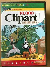 10,000 CLIPART Clip Art - ANIMALS ~ CD ROM  For Windows PC