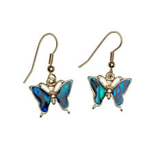 Butterfly Fashionable Earrings - Fish Hook - Abalone Paua Shell
