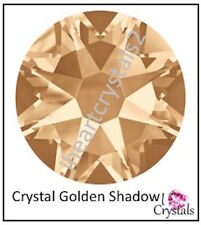 CRYSTAL GOLDEN SHADOW 12 pieces 34ss 7mm Swarovski 2058 Flatbacks Rhinestones