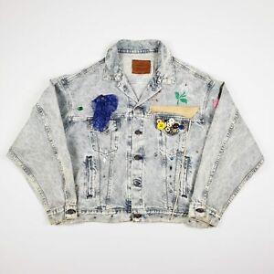 Levis Strauss & Co Womens Embellished Denim Casual Blue Jacket Size XXL