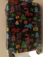 "Disney Parks Mickey Disney Luggage Spinner Carry On Suitcase 21"" New With Tags"
