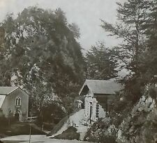 Peak Tresor, Source of Eaux-Chaudes, Pyrenees, Magic Lantern Glass Slide