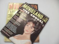 Movieland and TV Time -Lot of 2 - Back Issues from 1962 Feat. Elvis Pin-Up