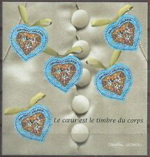 2001 FRANCE BLOC N°33** BF Christian Lacroix, Saint Valentin, Coeur, sheet MNH