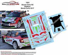 DECALS 1/18 REF 1501 SKODA FABIA R5 BAFFOUN RALLYE MONTE CARLO 2017 RALLY WRC