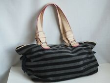 Juicy Couture Velour Bag Grey Blue Stripes