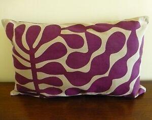 Jolie Plum rectangular cushion cover lumbar support 30 x 50 cms