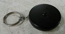 "Key-Bak Retractable Key Reel Black 24"" Stainless Steel Chain With Key Hook"