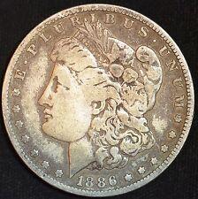 1886 O, Morgan Silver Dollar, Fine Condition, Free Shipping in USA, C3185