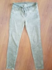 J BRAND Jeans The Skinny size 27 x 28 Antiqued Tan Brown Stretch