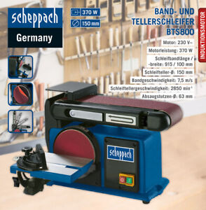 Scheppach Band- und Tellerschleifer BTS800 Schleifteller Schleifmaschine