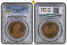 Rare 1901 German State Bavaria Medal PCGS SP64RB Top Finest Single Piece