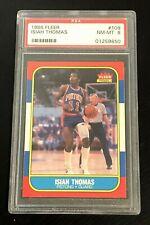 1986-87 Fleer Basketball Isiah Thomas 109 PSA 8 Rookie RC NM MT Pistons Centered