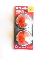 NUEVO CARPOINT 0413910 Marcador Faros 12V d70mm - Naranja (2 piezas)