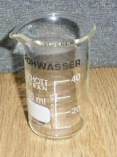 Becherglas, Bechergläser, Schott Duran  Inhalt 50 ml, Borosilicatglas 3.3