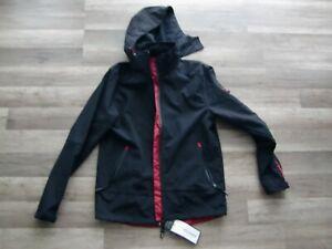 Softshelljacke mit Kapuze schwarz/rot GR.M Elysee