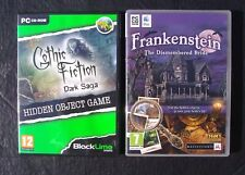 FRANKENSTEIN & GOTHIC FICTION DARK SAGA  ~ 2 HIDDEN OBJECT ~ PC GAMES