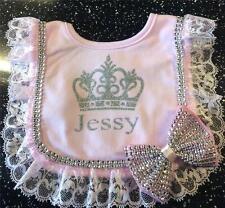 Romany Bling Personalised Baby Girls' Princess Frilly Bib Gift