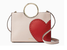 "Kate Spade New York ""Heart it Sam"" Satchel Heart Open Top Napa Leather Blush Red"