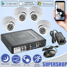 4CH CCTV DVR Home Security System Surveillance 720P AHD Camera,Motion Detection