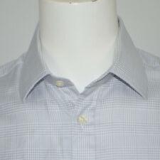 CHARLES TYRWHITT Classic Fit Gray Plaid Cotton Dress Shirt Sz 16.5 - 35