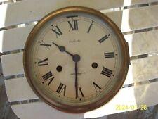 "Vintage Celeste 8 "" Brass Ship's Clock / Bell Simpson Lawrence Ltd. Glasgow"