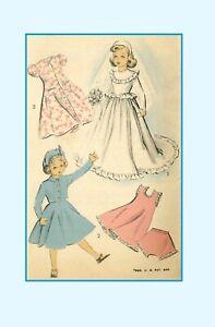 "Doll Clothes PATTERN 5002 for 21"" Revlon Cissy Toni Sweet Sue Wedding Gown Veil"