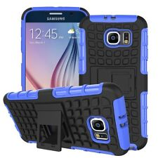 Shockproof Protection Heavy Duty Tough 2 Layer Phone Case Cover+Stand✔Blue