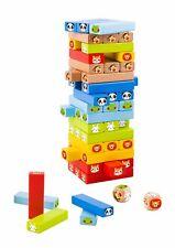 Tooky Toy Spielzeugturm - Holz-Spielzeug Farben-Spiel - Motorik Kinder-Spielzeug