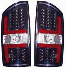 07-08 Dodge Ram Pickup LED Tail Lights BLACK HOUSING by DEPO PAIR NIB