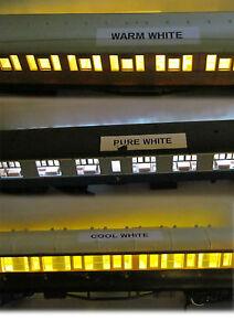 DCC / DC COACH LIGHTING KITS, WARM / COOL / PURE WHITE SUIT HORNBY/BACHMANN ETC