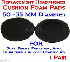 "50mm-55mm Replacement 2"" Foam Pad Ear Cushion Sponge Cover For Headphones 1Pair"