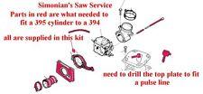 Husqvarna conversion kit 394 to 395 mm chainsaw OEM parts new Engine